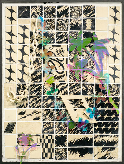 Roxana Azar, 'Wall Fragment No. 2 with Flowers, Tiny Flower, and Adorning Links', 2020