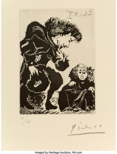 Pablo Picasso, 'Fernando de Rojas, La Célestine, pl. 33', 1970