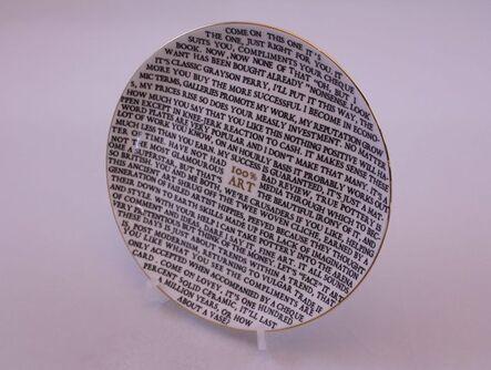 Grayson Perry, '100% Art (Plate)', 2020