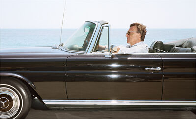 Andrew Bush, 'Man cruising south-southeast at 65 mph on Highway 101 near Toro Canyon on June 19th as the tide is coming in, 2010', 2010