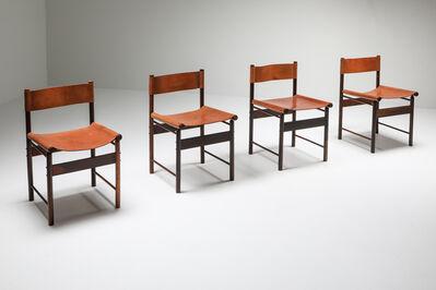 Jorge Zalszupin, 'Jacaranda Dining Chairs with Cognac Saddle Leather Seating by Jorge Zalszupin, 1950s', 1950-1959