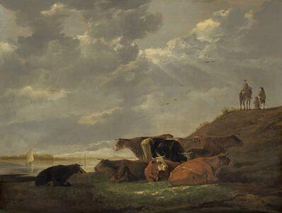 Aelbert Cuyp, 'River Landscape with Cows', 1645/1650