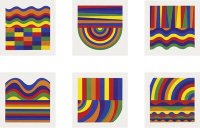 Sol LeWitt, 'Arcs and Bands in Colors A-F', 1999