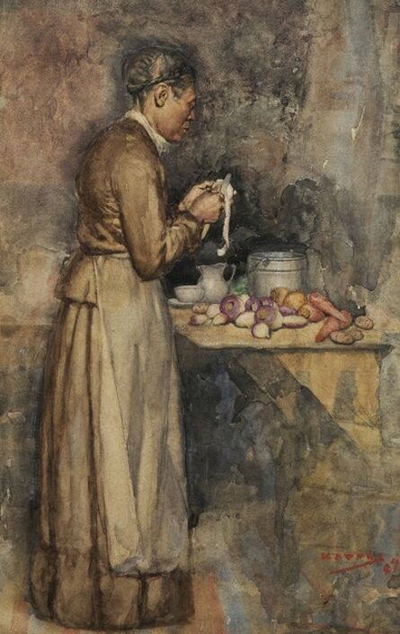 Alfred Kappes, 'In the Kitchen', 1884