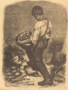 Firmin Gillot after Gustave Courbet, 'The Stone Breaker', after 1849