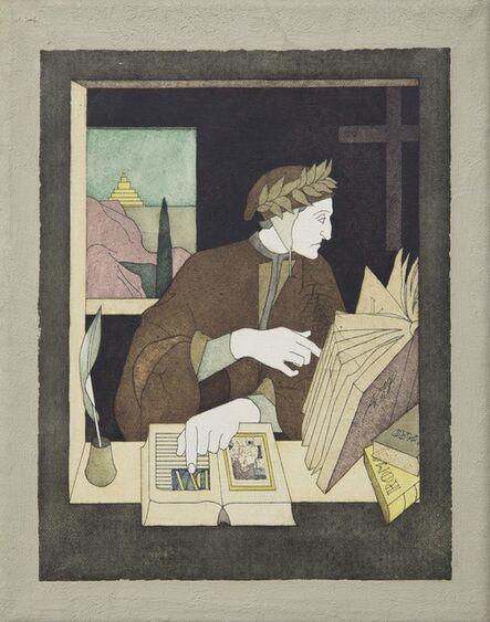 Tom Phillips, 'Dante in his study', Circa 1970