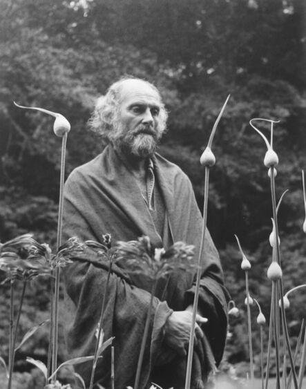 Imogen Cunningham, 'Morris Graves in his Leek Garden', 1973