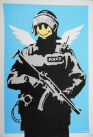 Banksy, 'Flying Copper (Blue)', 2003