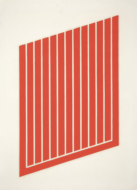 """Donald Judd, 'untitled, from """"Set of 26 woodcuts in Cadmium Red""""', 1968"""