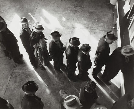Dorothea Lange, 'Unemployment Benefits Aid Begins, San Francisco', 1939