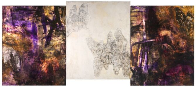 Bill Jensen, 'SUBSTANCE, SPIRIT & SHADOW (T'AO CH'IEN 7TH C) (triptych) VERSION II', 2010-2014
