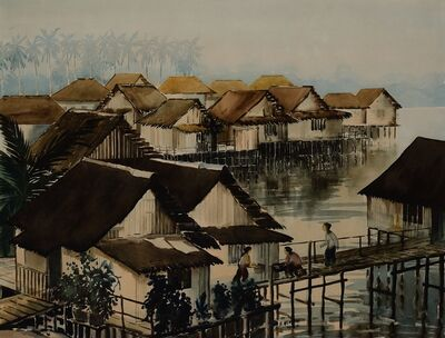 Suri bin Mohyani, 'Kampong Kuchan (Lorong 3, Geylang)', 1951