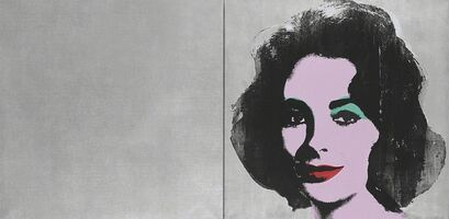 Andy Warhol, 'Silver Liz (diptych)', 1963-1965