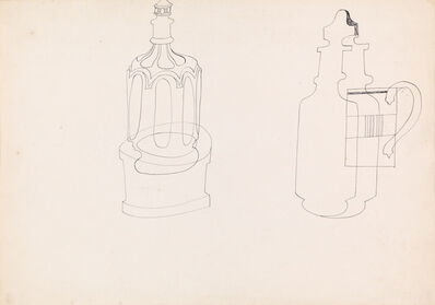 Ben Nicholson, 'Still Life of Jug and Decanter', 1942
