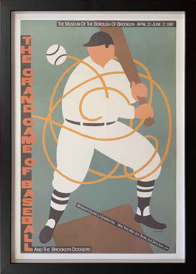 Seymour Chwast, 'The Grand Game of Baseball and the Brooklyn Dodgers', 1987