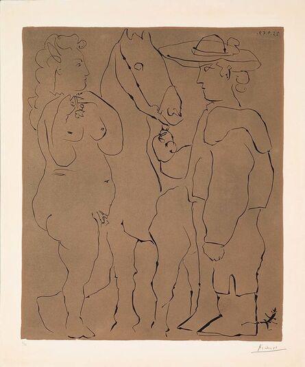 Pablo Picasso, 'Picador, Femme et Cheval (B.913)', 1959