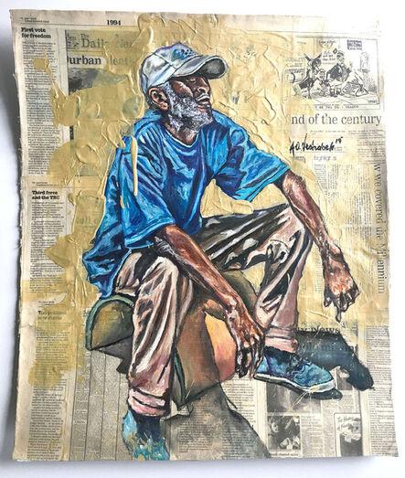 Andrew Ntshabele, 'A Golden Moment I', 2019