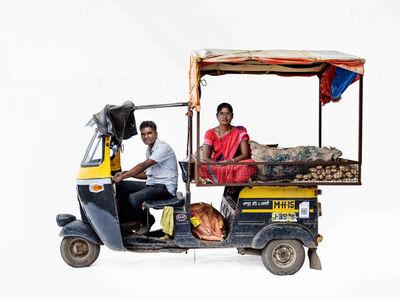Martin Roemers, 'Bajaj autorickshaw#3; Vegetable vendors Manik Karke, Yashoda Karke (Nashik, Maharashtra)', 2019