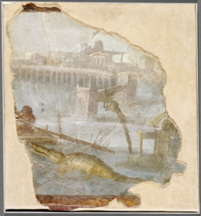 'Fresco Fragment with Nilotic Landscape',  about 70