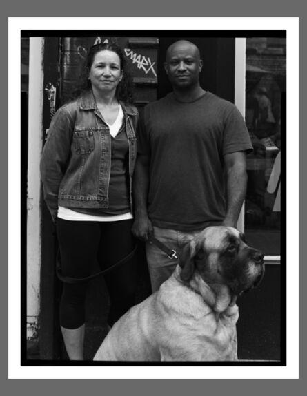 Robert Kalman, 'Monique & Claude with Bella, NYC'