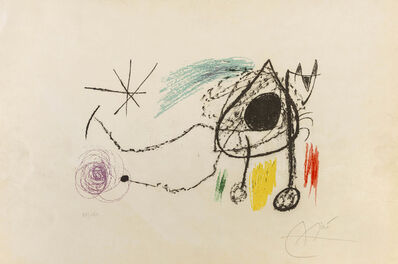 Joan Miró, 'Couverture pour l'exposition 'Sobreteixims i Escultres', Barcelona, 1972', 1972