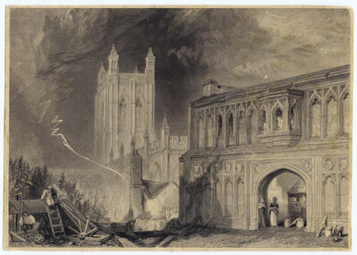J. M. W. Turner, 'Malvern Abbey & Gate, Worcestershire', 1832