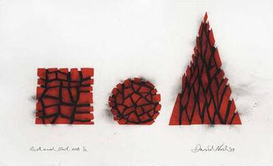 David Nash, 'Pyramid, Square, Circle', 2009