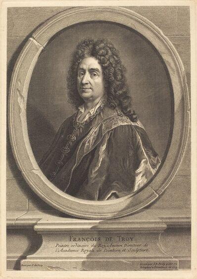 Jean-Baptiste de Poilly after Francois de Troy, 'Francois de Troy', 1714