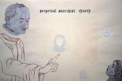 Enrique Chagoya, 'Ghostly Meditations (perpetual anarchist church)', 2012