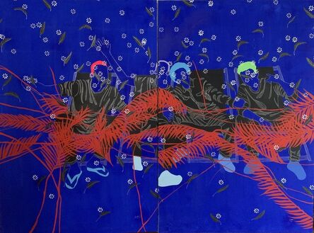 Moustapha Baïdi Oumarou, 'Instant de joie (diptych)', 2019