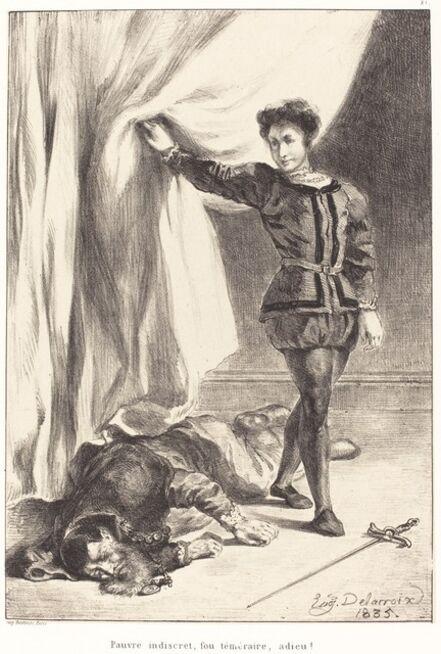 Eugène Delacroix, 'Hamlet and the Body of Polonius (Act III, Scene IV)', 1835