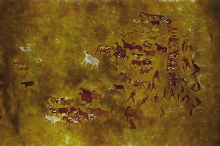'Cave painting of Tassili-n-Ajjer', 2nd millennium B.C.