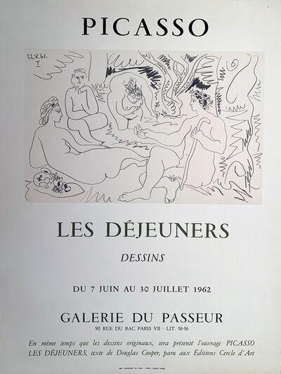Pablo Picasso, 'Picasso Les Dejeners Dessins, Galerie du Passeur Gallery Poster', 1962