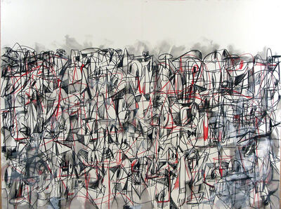 George Condo, 'Red and Black Compression', 2011