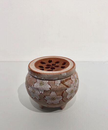Mochizuki Shu, 'Incense Burner with Cherry Blossom Pattern', 2014