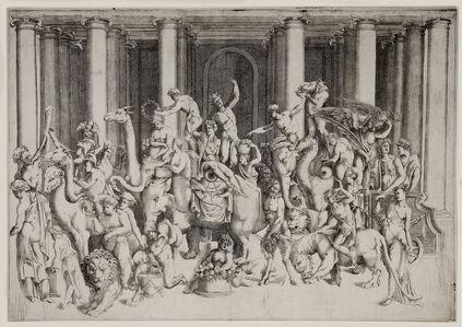 Enea Vico, 'Bacchus and Ariadne on a Triumphal Chariot.', ca. 1542