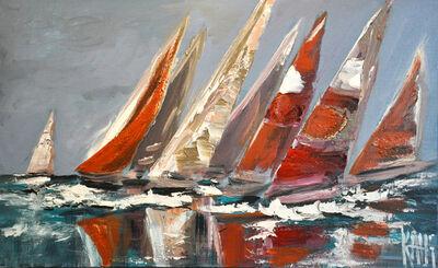 Michele Kaus, 'Regatta in red', 2019