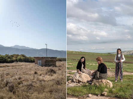 Marc Yang, 'Land, Marivan, Iran 2016 (left) Weekend, Duhok, Iraq 2017 (right)', 2016-2017