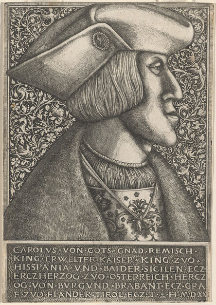 Hieronymus Hopfer, 'Charles V', 1520