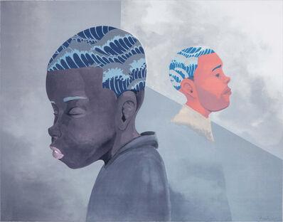 Hebru Brantley, 'Two Men Sporting Waves', 2019