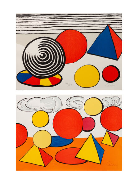 Alexander Calder, 'A pair of prints (Composition VII; Three Pyramids)'