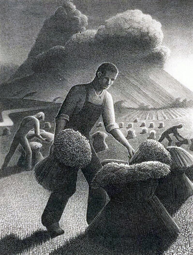 Grant Wood, 'Approaching Storm', 1940