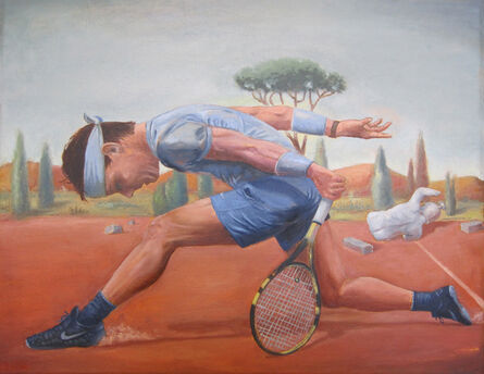 Tony Geiger, 'Player on Red Clay ', 2018
