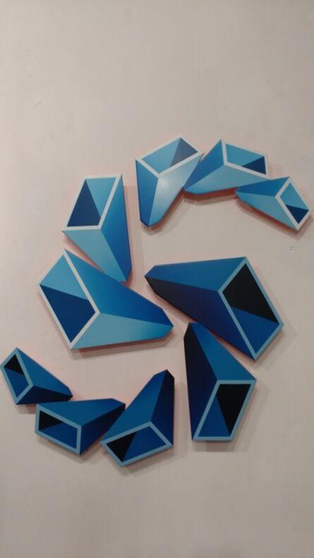 Daniel Sanseviero, 'Blue sculpture', 2018