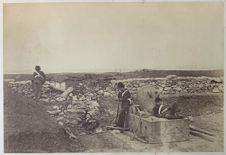 Roger Fenton, 'A Quiet Day on the Mortar Battery.', ca. 23 April 1855