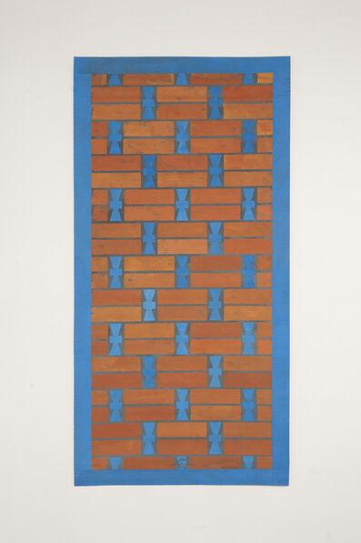 Chant Avedissian, 'P7 - Khiva mud brick wall pattern with blue glazed tiles', 2016