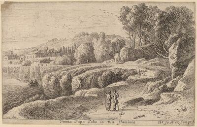 Herman van Swanevelt, 'Vineyard of Pope Julius on the Via Flaminia'