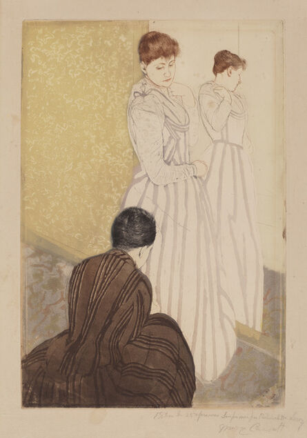 Mary Cassatt, 'The Fitting', 1890-1891