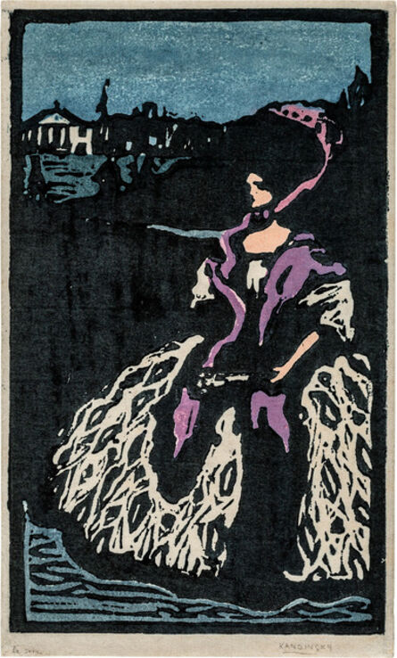 Wassily Kandinsky, 'Dame mit Fächer', 1903