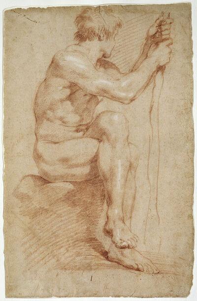 Gian Lorenzo Bernini, 'Seated Male Nude', 1618-1624